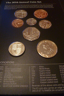 2016 BRAND NEW Definitive COIN SET - BRILLIANT UNCIRCULATED - Complete