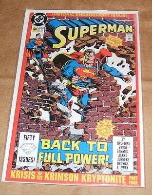 DC Comics Superman Issue 50 Exc. Cond. Bagged/Backer board