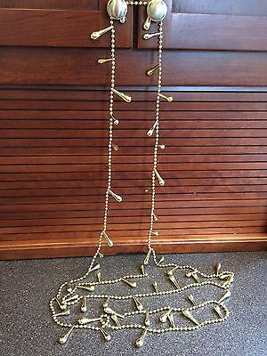 Gold Teardrop Garland Christmas Tree Holiday Decoration Party Strand Beads