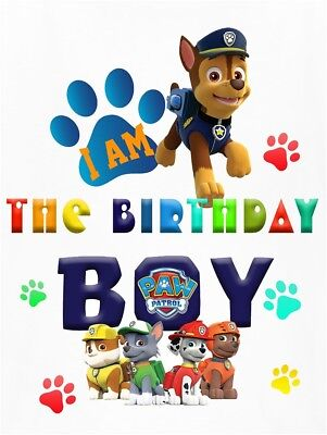 9d4d2e0697f PAW PATROL * Dad Of The Birthday Boy***Fabric/T-Shirt Iron On ...