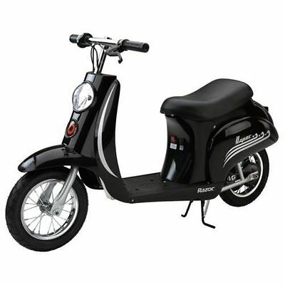 Razor Pocket Mod Vapour Kids Boys Electric Scooter Bike Moped Ride on Toy Black