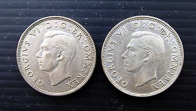 7 - Gb 2 X George Vi Florins, 1939 & 1941 In Vf To Ef Condition
