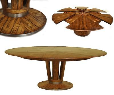 Contemporary Jupe Table, Large Modern Round Dining Table Opens to 84""