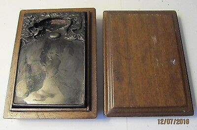 Antique CHINESE INK STONE With WOODEN BOX Calligraphy CARVED DRAGON