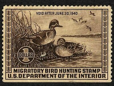 US Federal Duck Stamp  RW6 , MNG, SV $70