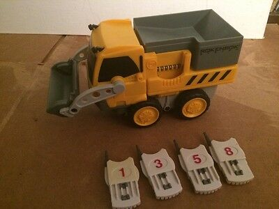 Rokenbok RC Classic Yellow Loader vehicle with 4 Receivers