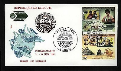 Djibouti 1982 First Day Cover PHILEX FRANCE UPU Cachet