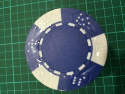 100 x Blue Poker Chips - No Printed Values