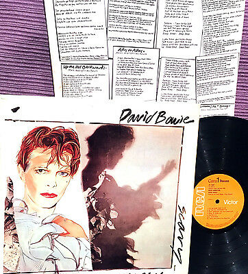 DAVID BOWIE - LP - SCARY MONSTERS   - 1980  RCA SPAIN - 1st Edition