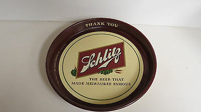 Schlitz Beer thank you tip serving tray