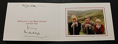 PRINCES CHARLES, WILLIAM, & HARRY CHRISTMAS CARD for 1996, SIGNED BY CHARLES