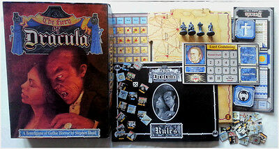 The Fury of Dracula Games Workshop Vampire BoardGame - sturdy Box Complete 1987