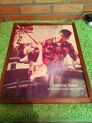 Vintage Imperial Glass Advertising  Glass Blowing Glass Blower