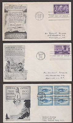 3 FIRST DAY COVERS ARISTOCRATS Cachets 959 954 989