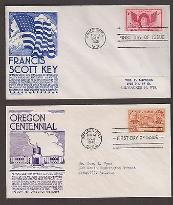 4 First Day Covers Stephen Anderson Cachets 962 964 965 970