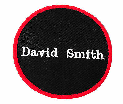 """CUSTOM EMBROIDERED PERSONALIZED NAME TAG SEW On PATCH BADGE 3"""" ROUND PATCH"""