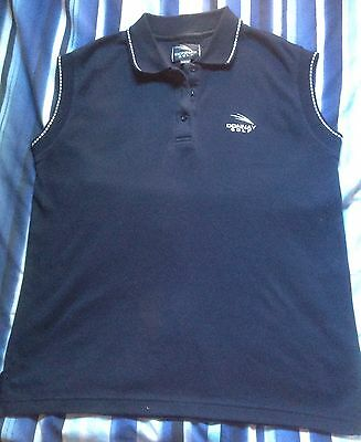 Ladies Sleeveless Golf Top Donnay Navy Size 12