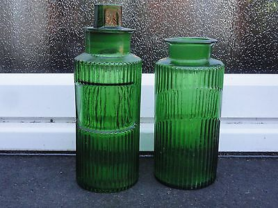 2 x Antique Chemist / Apothecary / Poison / Chemical Jars  circa 1900 - 1920