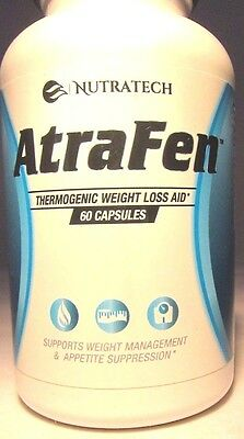 Nutratech Atrafen Fat Burning & Appetite Suppressant - 60 Capsules Exp 05/2018