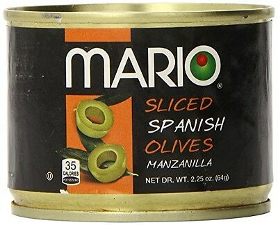 Mario Camacho Sliced Green Olives, 2.25-Ounce Cans (Pack of 12)