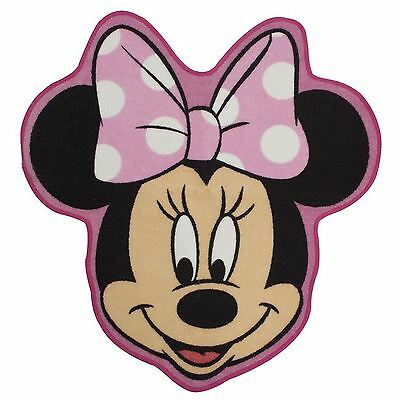 Minnie Mouse Makeover Shaped Rug Kids Bedroom 100% Official New Free P+P