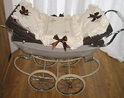 Twin Doll's pram quilt set Silver Cross or Vintage Twin Dolls pram  Any Colour