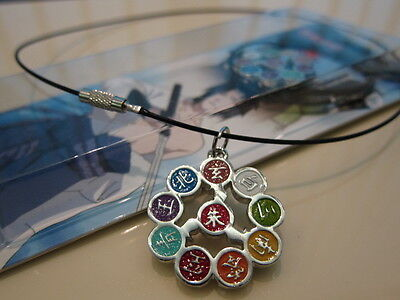 Naruto weapon Akatsuki Members Sign Metal Pendant Necklace * Traceable Shipping