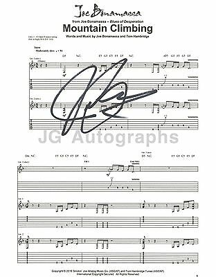 "Joe Bonamassa - Authentic Autographed ""Mountain Climbing"" Sheet Music"