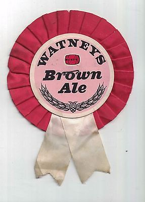 WATNEYS BROWN ALE = rosette style labour party