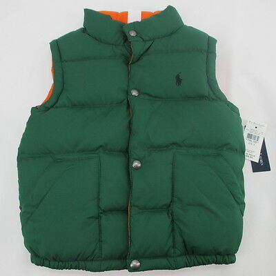 Polo Ralph Lauren Reversible Puffer Vest Boys New With Tags Size 6