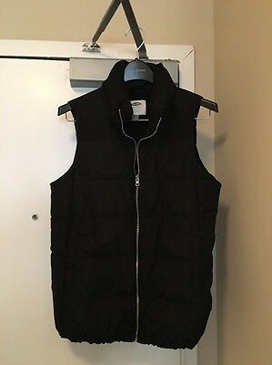 Old Navy Maternity Puffer Vest, Black, Small