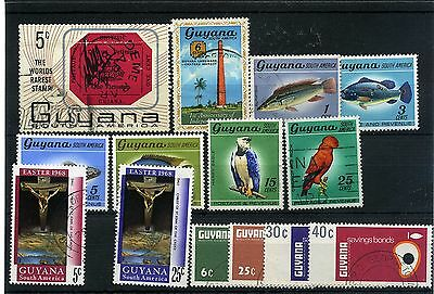 Guyana 14 --1967/8  Mounted Mint/used Stamps On Stockcard
