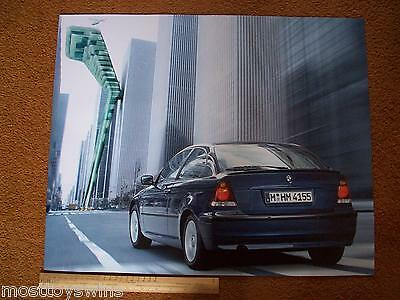 BMW 3 Series Compact E46 CAR Large Poster NEW German 2000-04 Artistic Display