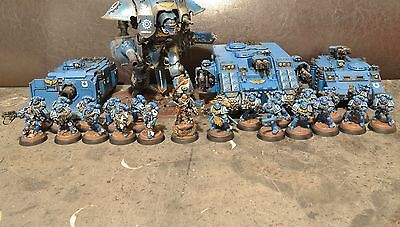 Warhammer 40k Space Marines Ultramarines Army Painted Ready-to-post
