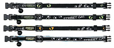 Bulk Buy 4 Trixie Cat Eyes Adjustable Nylon Cat Reflective Safety Collars 41877