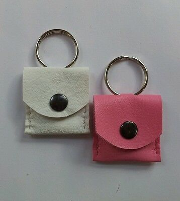 Faux Leather memory card holder/ key ring . SD/micro sd adapter. Stud fastener