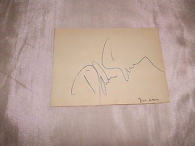 Dick Emery Comedian & Rare Peter Hughes Tv  Avengers Signed Autograph Book Page