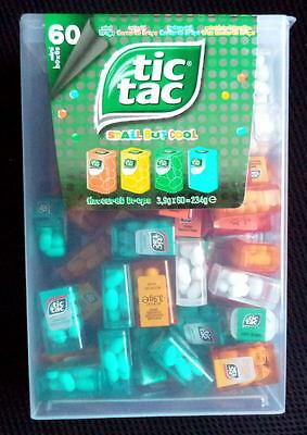 TIC-TAC LILIPUT LIMITED-EDITION  LARGE BOX WITH  60 MINI PACKS  X 3,9 g