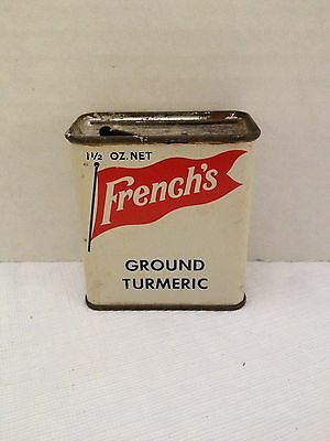 Vintage French's 1 1/2 OZ. Ground Turmeric Spice Tin - R.T. French Co.