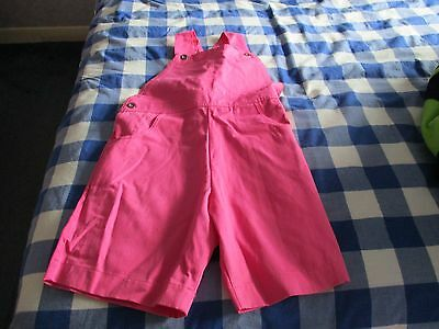 Girls BHS Dungarees Pink Age 7-8 Years Height 128cms