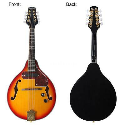 8-String Solid Spruce Electric Mandolin A Style Adjustable NEW Sunburst M7P1