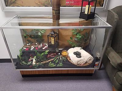 RETAIL GLASS DISPLAY CASE FULL VISION 4ftx20 x38