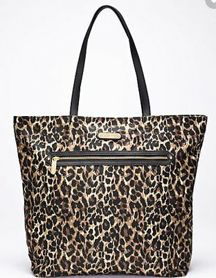 Victoria's Secret Tote Bag Handbag Large Leopard Supermodel Essentials