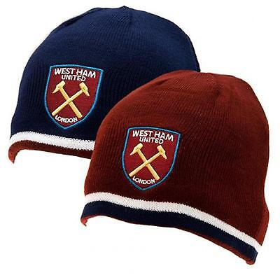 West Ham United F.C. Reversible Knitted Hat OFFICIAL LICENSED PRODUCT