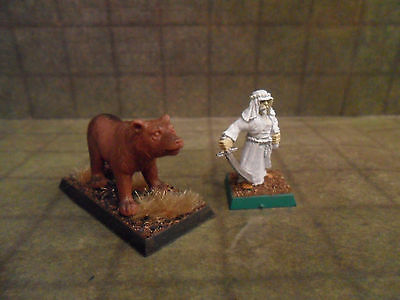 25mm / 28mm Painted Brown Bear Animal. Pathfinder Dnd Roleplaying. Minees