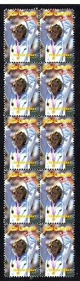 Steffi Graf Strip Of 10 Mint Tennis Stamps, Olympics