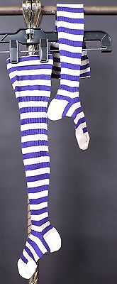 Victorian 19Th C Child'S Tall Striped Stockings