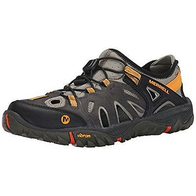 Merrell 6711 Mens Gray Leather Water Shoes Sneakers 10.5 Medium (D) BHFO