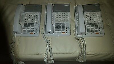 Lot of 3 KX-T7020 Phones for Panasonic Advanced Hybrid System