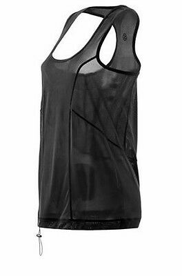 SKINS PLUS Womens Revive Tank  Black/Gold  XS S or M   NWT